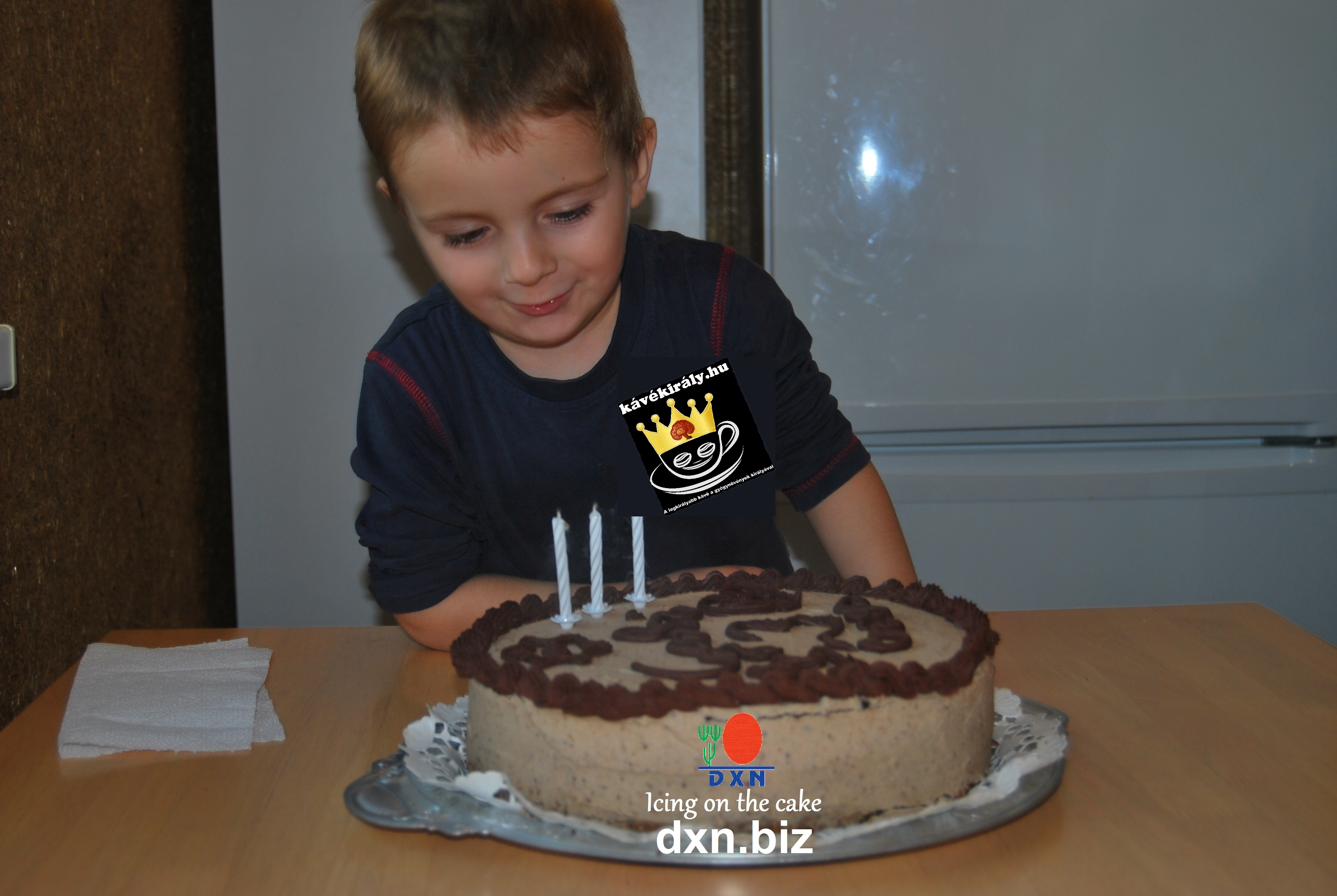 My nephew with his DXN birthday icing on the cake :)