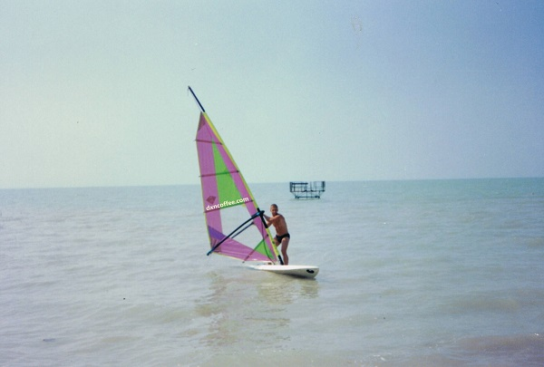 Lake Balaton, the Hungarian Sea and a DXN coffee addict enjoying surfing! :)