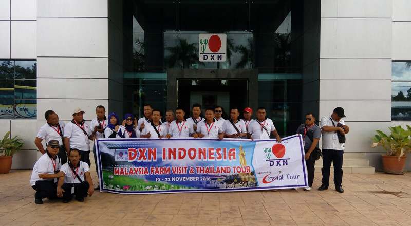 DXN Ganoderma Farm and company visit for DXN Indonesia