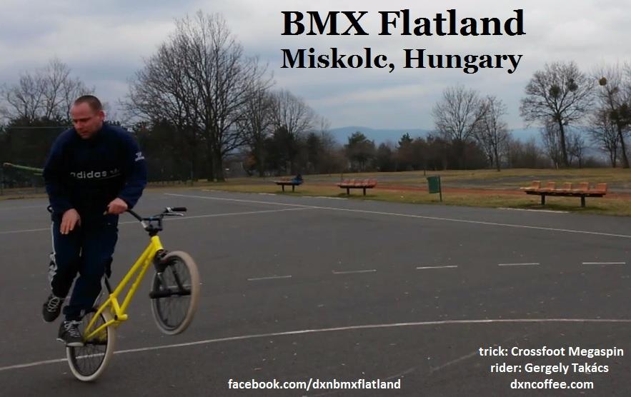 Crossfoot megaspin BMX Flatland trick