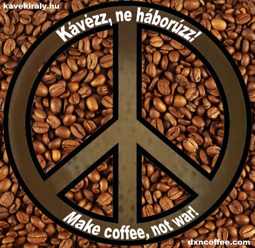 Make DXN mushroom coffee, not war