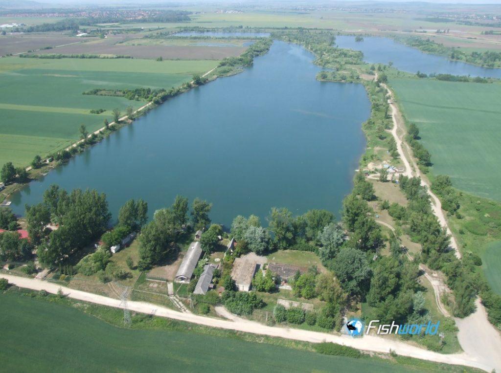 Birds' eye-view of Lake Csorba, B.A.Z county, Miskolc, Hungary
