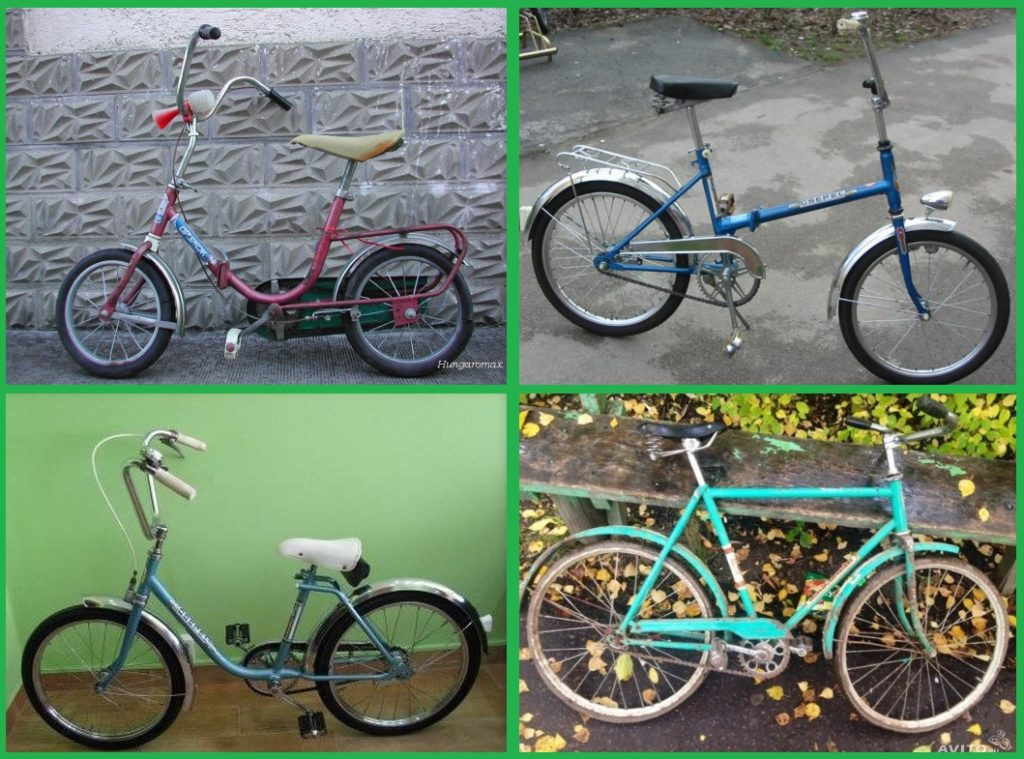 Vintage bikes from the 1980's in Europe, Russia and Hungary.