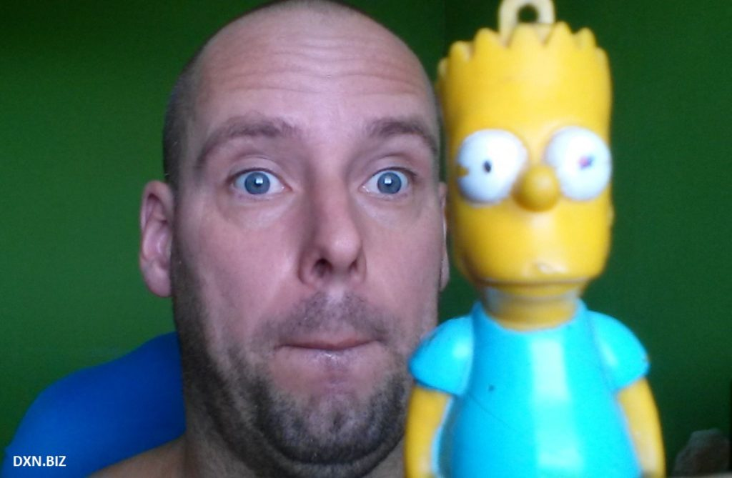 Selfie with Bart Simpson
