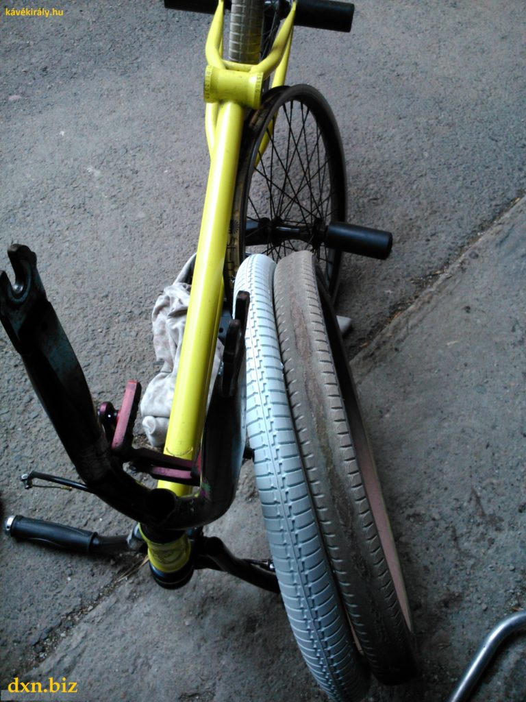 New and worn BMX Flatland tires by Chase Gouin: Odyssey Frequency G 1.75